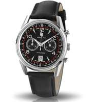 Montre bracelet cuir noir ø40 mm - Himalaya Chronograph | Lip - Pandacola
