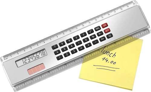 Règles/Cutch - Règle publicitaire 20 cm avec calculatrice solaire - Ballarat - Pandacola