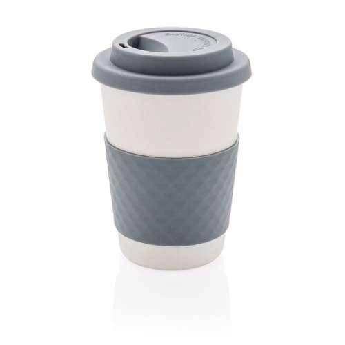 Mugs - Mug personnalisé en fibre de Bambou avec couvercle 270 ml - Kilcok - Pandacola