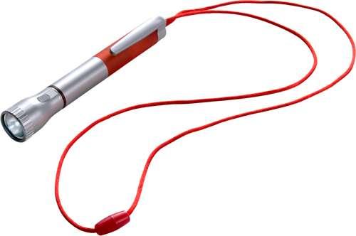 Stylos à bille - Torche publicitaire 2 LEDs avec stylo bille et tour de cou - Bergen - Pandacola