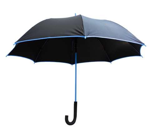 Parapluies classiques - Parapluie publicitaire manche canne - Black Color | Raintop - Pandacola