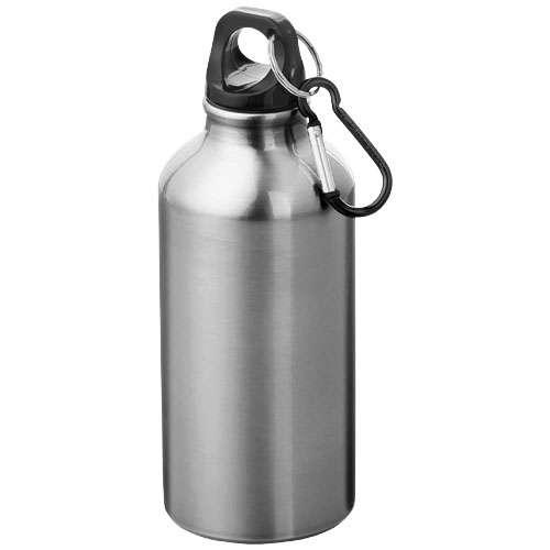 Gourdes - Gourde publicitaire en métal avec mousqueton 400 ml - Oregon - Pandacola
