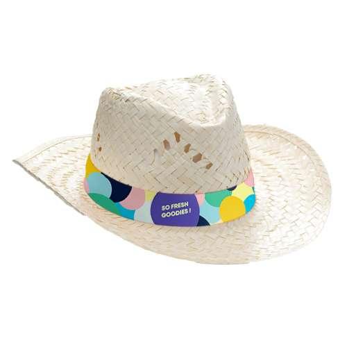 Chapeaux - Chapeau de paille publicitaire avec bandeau marqué en sublimation - Lua - Pandacola