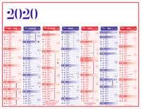 Calendrier bancaire publicitaire semestriel - INC43 Standard - Pandacola