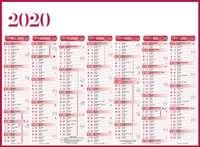 Calendrier bancaire promotionnel semestriel - INC55 Standard - Pandacola