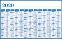 Calendrier bancaire annuel cartonné à personnaliser dos multithèmes- INC65 Standard - Pandacola