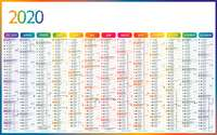 Calendrier bancaire promotionnel verso multithèmes - INC65 4 Saisons - Pandacola