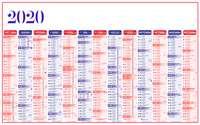 Calendrier bancaire personnalisé multithèmes - INC65 Standard - Pandacola