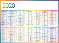 Calendrier bancaire personnalisé - INC55 4 Saisons Horizontal verso Europe - Pandacola