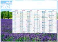 Calendrier bancaire personnalisable thématique - INC55 Provence - Pandacola