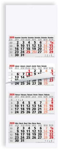 Calendrier de bureau - Calendrier feuillet tryptique personnalisable 4 mois - AG4 Luxe - Pandacola