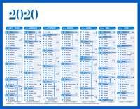 Calendrier bancaire cartonné personnalisable - AGC27 Standard - Pandacola