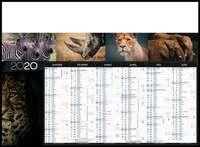 Calendrier bancaire personnalisable thématique - AGC55 Animaux sauvages - Pandacola