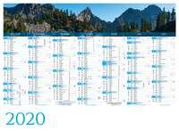 Calendrier bancaire personnalisable thématique - AGC55 Panoramique - Pandacola