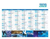 Calendrier bancaire personnalisable thématique - AGC27 Industrie - Pandacola