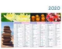Calendrier bancaire personnalisable thématique - AGC27 Zen - Pandacola