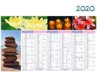 Calendrier bancaire personnalisable thématique - AGC55 Zen - Pandacola