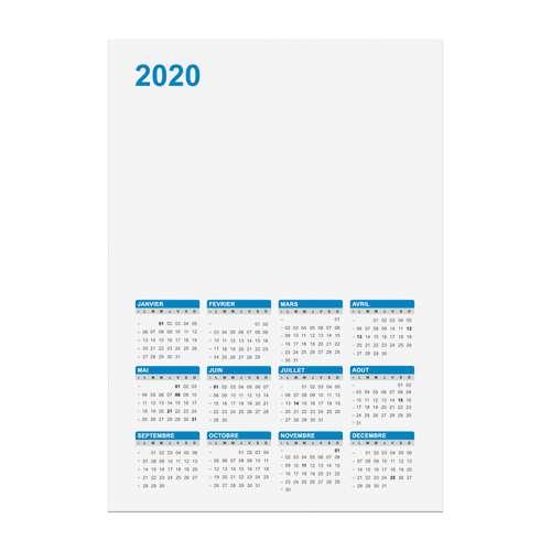 Calendrier Bancaire Personnalise.Calendrier De Banque Personnalise 2020 Recto Rigide A5