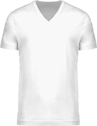 Tee-shirts - T-shirt publicitaire avec col V en coton BIO 155 gr/m² - Pandacola