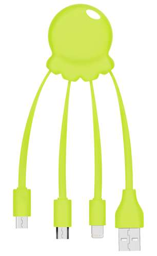 Câbles - Câble de charge personnalisé multi-connecteurs - Octopus | Xoopar - Pandacola