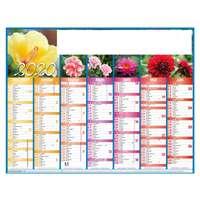 Calendrier personnalisé planche bancaire rembordé 43 x 33,5 cm - Flowers - Pandacola