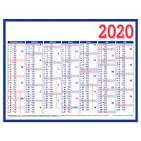 Calendrier planche bancaire personnalisé en deux couleurs rembordé 53 x 40,5 cm - Pandacola