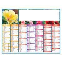 Calendrier personnalisé planche bancaire rembordé 27 x 21 cm - Flowers - Pandacola
