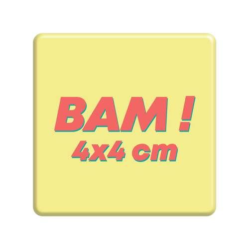 Badges - Badge publicitaire carré 4x4 cm - Signal - Pandacola