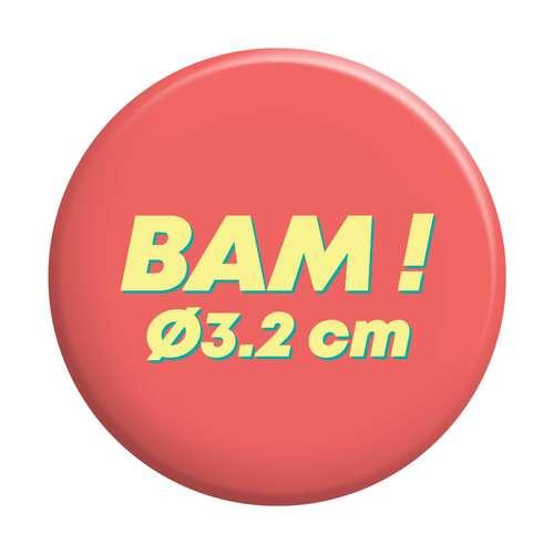 Badges - Badge personnalisé rond Ø3,2 cm - Paty - Pandacola