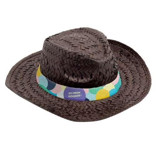 Chapeaux - Chapeau de paille coloré avec bandeau marqué en sublimation - Splash - Pandacola