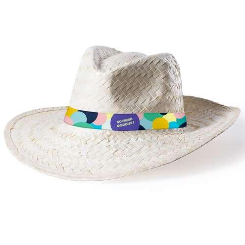 Chapeaux - Chapeau de paille personnalisé avec bandeau en sublimation - Dimsa - Pandacola