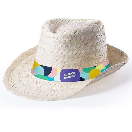 Chapeaux - Chapeau de paille personnalisé avec bandeau en sublimation - Helbik - Pandacola