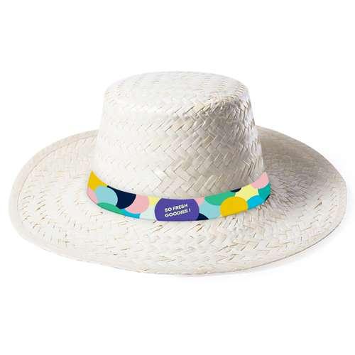 Chapeaux - Chapeau de paille publicitaire avec bandeau en sublimation  - Dabur - Pandacola