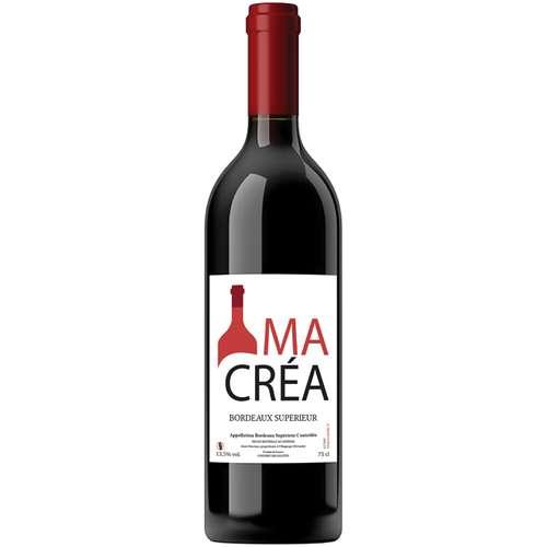 Bouteilles de vin - Bouteille de vin rouge personnalisable - Bordeaux supérieur 2014 - Pandacola