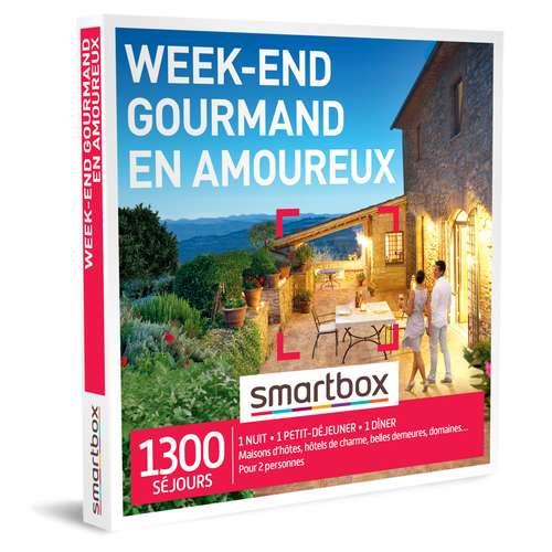 Coffrets et box cadeaux - Coffret cadeau Séjour gastronomique - Week-end gourmand en amoureux  Smartbox - Pandacola