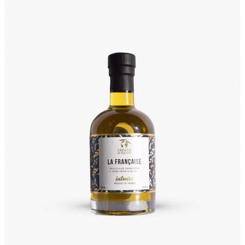 Huiles d'olive - Huile d'olive personnalisée verre Française Intense | Trésor d'Olive - Pandacola