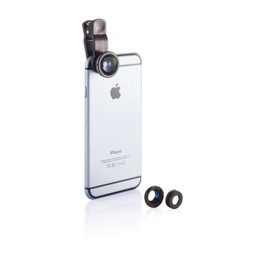 Objectifs pour smartphones/tablettes - Set publicitaire 3 lentilles pour téléphone portable - Shannon - Pandacola