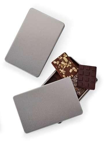 Boîtes de chocolat - Boîte de chocolat 80g personnalisable en métal - Pandacola