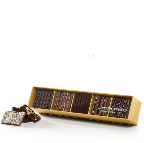 Boîtes de chocolat - Coffret de mini-tablettes au chocolat 190g - Gourmand - Pandacola