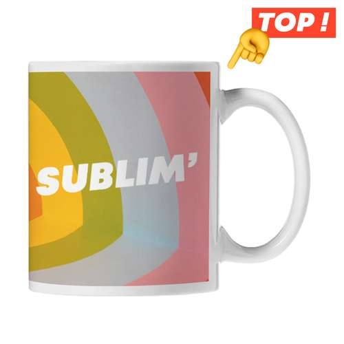 Mugs - Mug publicitaire céramique marquage sublimation 320 ml - Newark - Pandacola