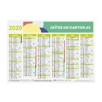 Calendrier de banque personnalisé 2020 recto/verso rigide A5 - Bascom - Pandacola
