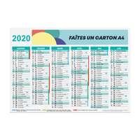 Calendrier de banque personnalisé 2020 recto/verso rigide A4 - Polk - Pandacola