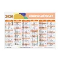 Calendrier bancaire publicitaire 2020 recto/verso souple A2 - Bartow - Pandacola