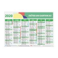 Calendrier de banque personnalisé 2020 recto/verso rigide A3 - Manatee - Pandacola