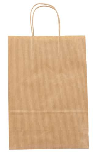 Sacs shopping - Sac papier kraft personnalisé blanc 22x31x10 cm 90 gr/m² - Colina - Pandacola