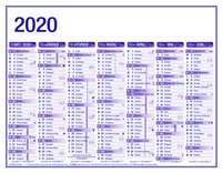 Calendrier bancaire semestriel à personnaliser - AGC Premium bleu - Pandacola