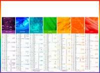 Calendrier bancaire personnalisable thématique - AGC55 Arc en Ciel - Pandacola