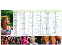 Calendrier bancaire personnalisable thématique - AGC55 Enfants du Monde - Pandacola