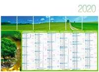 Calendrier bancaire personnalisable thématique - AGC55 Planète Verte - Pandacola