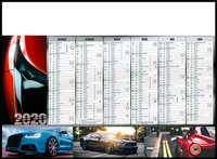 Calendrier bancaire personnalisable thématique - AGC55 Voitures - Pandacola
